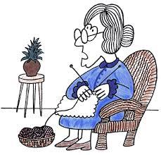 abuela tejiendo
