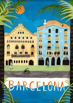 ilustracion barcelona